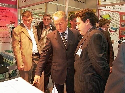 Глава Дмитровского района Гаврилов Валерий Васильевич, выставка подмосковье 2006