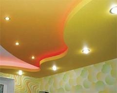 подвесные многоуровневые потолки из гипсокартона