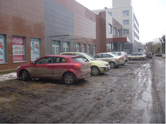 Дмитров, ГАТН, Пятерочка, газон, парковка