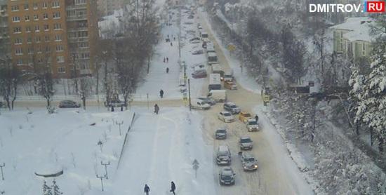 Снегопад Дмитров, 2018